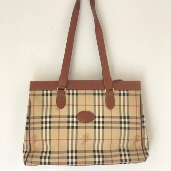 43e93e616735 Burberry Handbags - Burberry Nova Check Leather Coated Tote